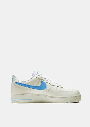 brand new 7d426 e63ef Nike Air Force 1 white and light blue sneakers