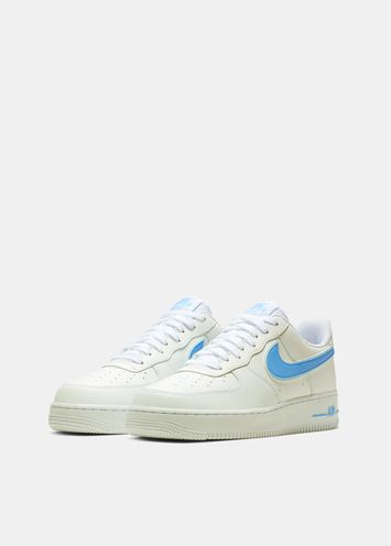 brand new 4159a f7bc1 Nike Air Force 1 white and light blue sneakers