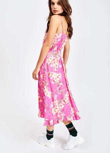 65c83fef35e2c Vivid pink floral summer dress - Essentiel Antwerp - EU store